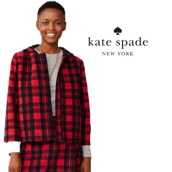 NWOT Kate Spade Saturday Buffalo Plaid Jacket. L